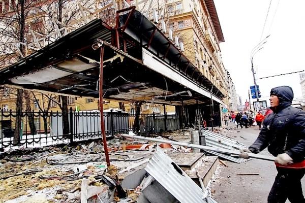 Демонтаж павильонов Москвы