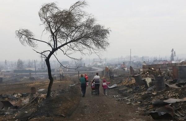 Пожарища в Хакассии