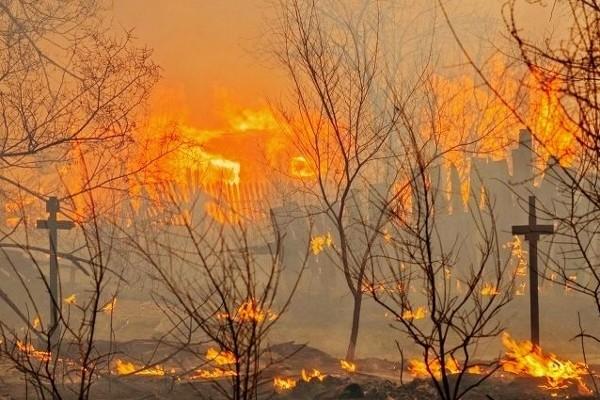 Пожары в Хакассии
