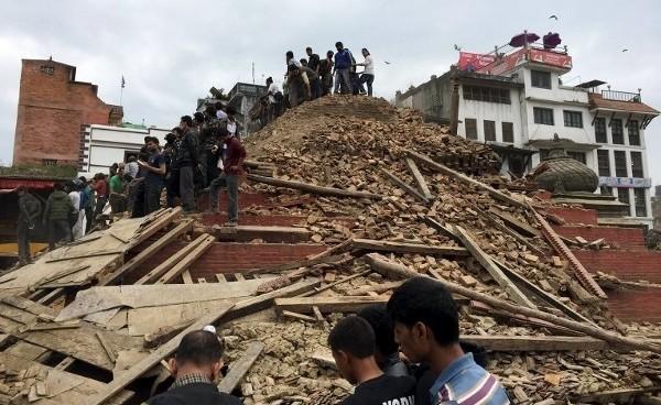 Разрушения от землетрясения в Непале