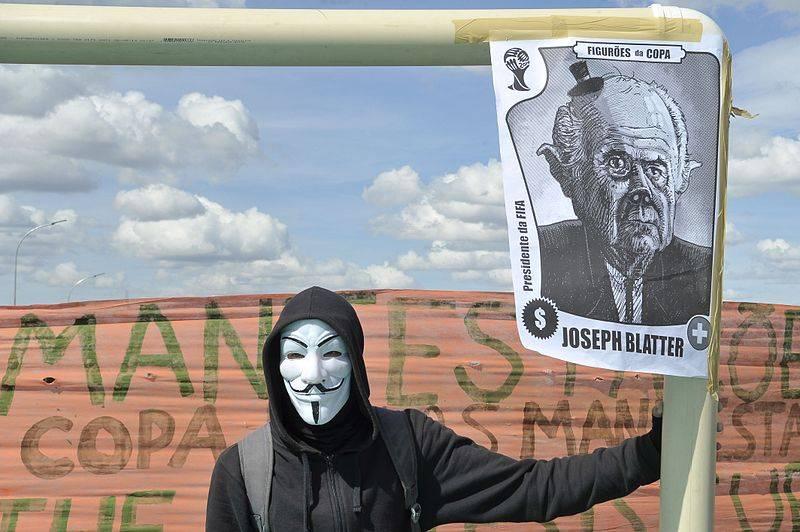 Демонстрация против расходов на ЧМ.