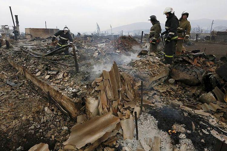 Пожарища в республике Хакасия